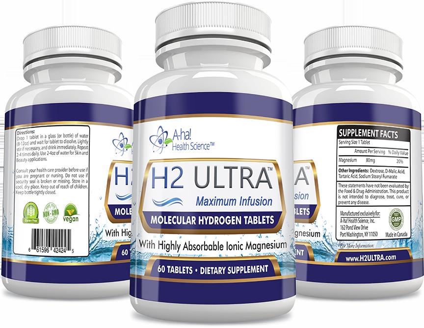 Molecular Hydrogen H2 Tablets- HydroRich Ultimate